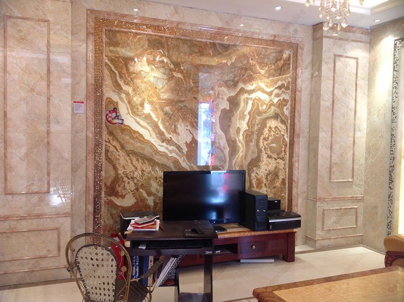 爵士白大理石背景墙 仿大理石瓷砖背景墙