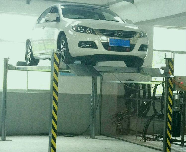 家庭用简易立体车库俯仰式四柱停车设备汽车立体停车场馆设备