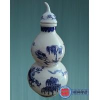 定制5斤装青花葫芦陶瓷酒瓶