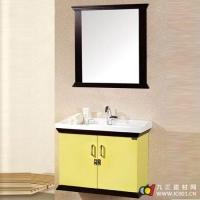 成都优品居卫浴--优品居挂墙式组合浴室柜(淡黄色)