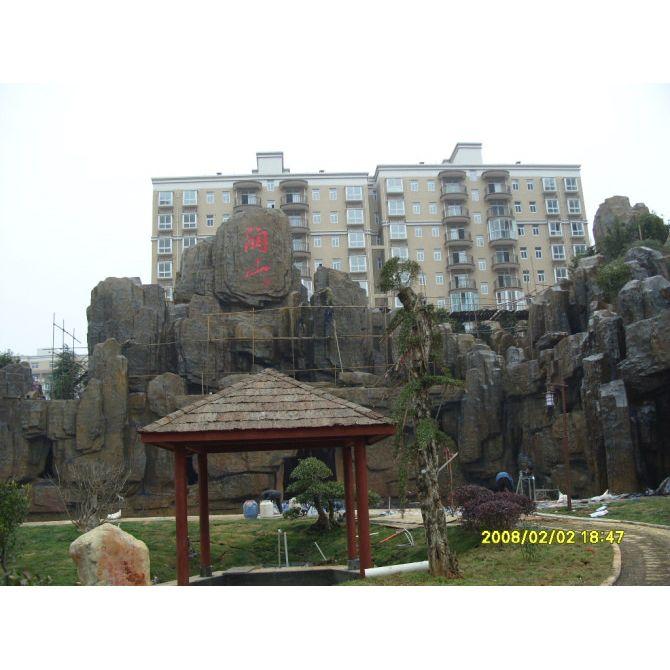 南京假山-天将雕塑