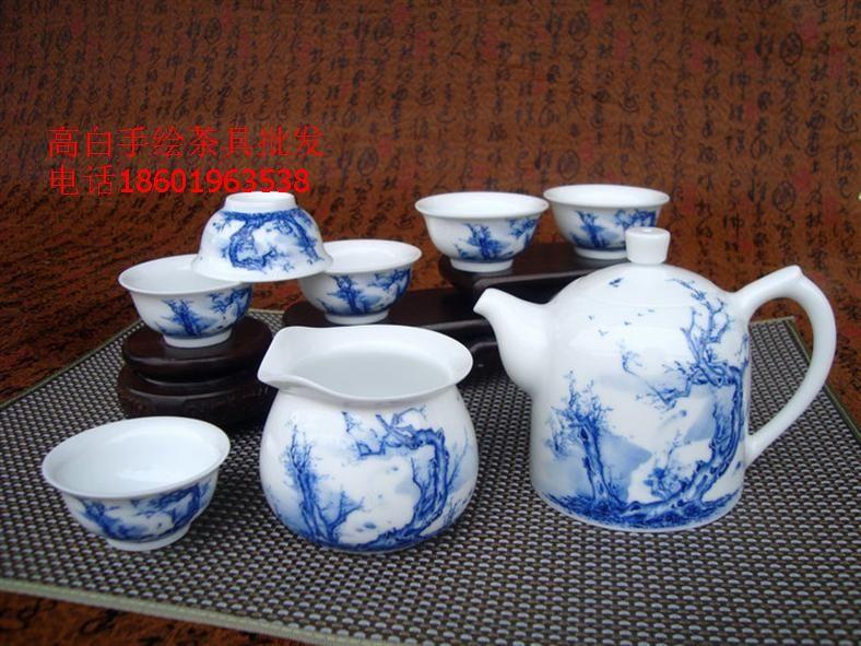 景德镇手绘青花瓷茶具图片