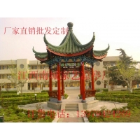 家艺木结构仿古建筑凉亭供应生产 江西古建亭厂家