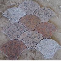 石材花岗岩 扇形铺地石 六角菱形 回形路面石