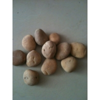 河卵石 鹅卵石 自由石 江石 黑色 黄色 石材马赛克