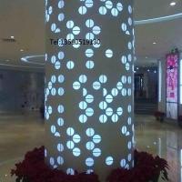 雕花包柱铝单板