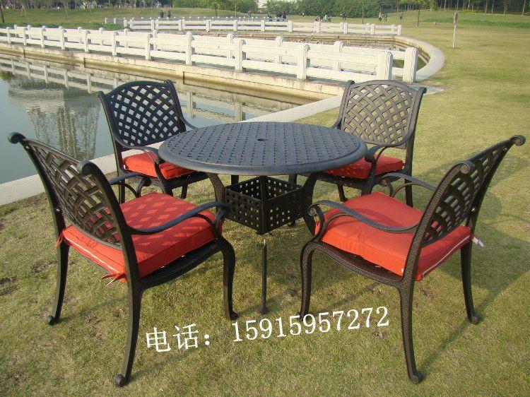 广州花园家具 高端大气铸铝桌椅 庭院休闲家具