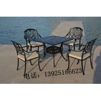 铸铝休闲桌椅 别墅白色铸铝桌椅 咖啡厅花园家具