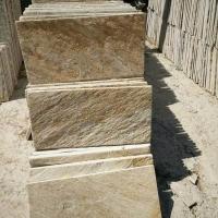 生產銷售W031黃木紋秀板文化石 河北天然優質背景墻文化磚