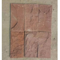 河北文化石灰石英文化石白木纹蘑菇石厂家