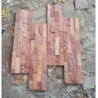 厂家批发河北文化石红色冰裂纹文化砖