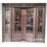 步丹玻璃铜门商铺门酒店大门不锈钢铜门