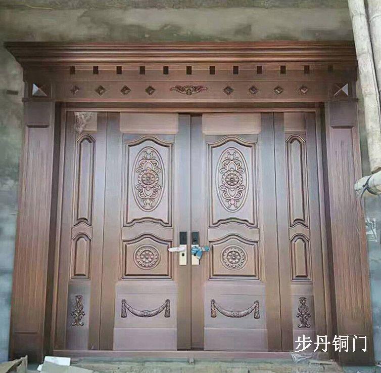 欧式别墅铜门欧式不锈钢仿铜门