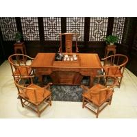 【朽木传奇】非洲花梨木 虎脚茶台 一桌六椅功夫茶桌椅组合可定