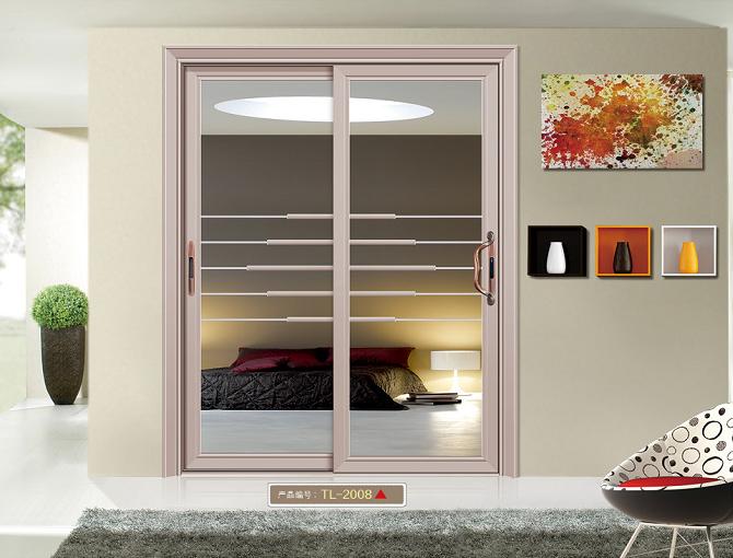 西安美家门窗钛镁合金推拉门重型推拉门阳台门隔断门批发