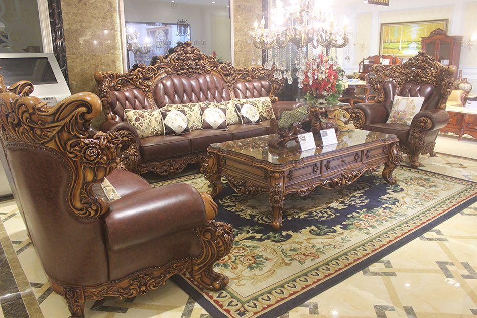 健馨家居jx-2188欧式大款皮沙发