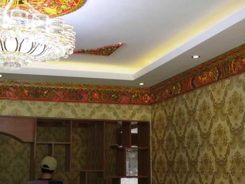 藏式装饰 吊顶 西藏双通装饰图片