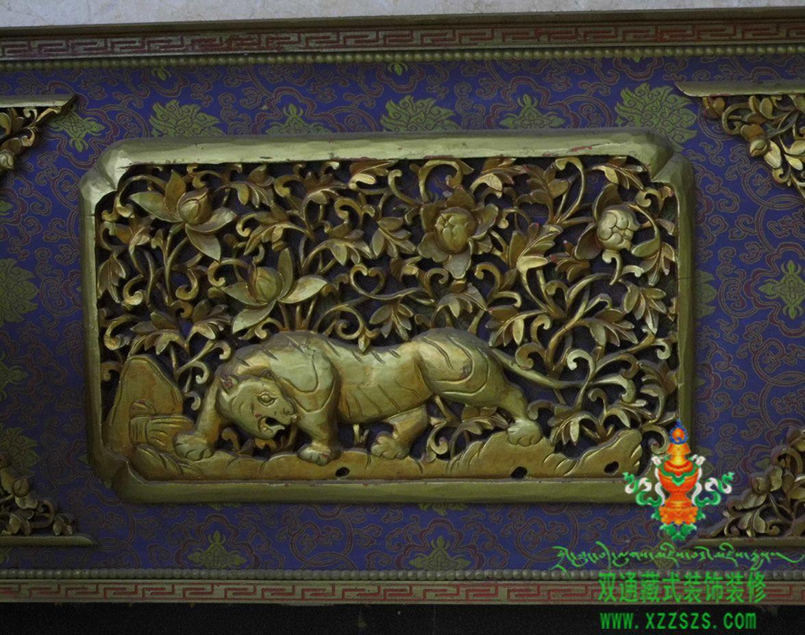 藏式装饰雕花  外墙装饰  吊顶 西藏双通装饰