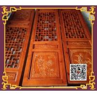 重庆东渝木雕花格门扇门窗雕花门实木门门套隔断