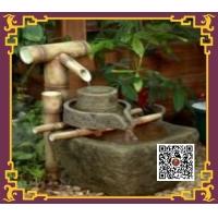 示单园林假山竹子流水石景石缸盆栽绿化禅意空间景观设计