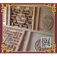 重庆东渝实木雕花镂空隔断门窗花格榫头结构门板