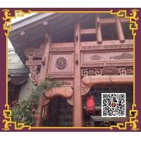 东渝木雕私人会所门头雕花木雕作品工艺品设计艺术品
