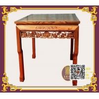 榆木兽脚大方桌,8张椅子