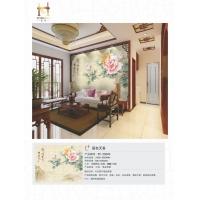 国色天香瓷砖背景墙