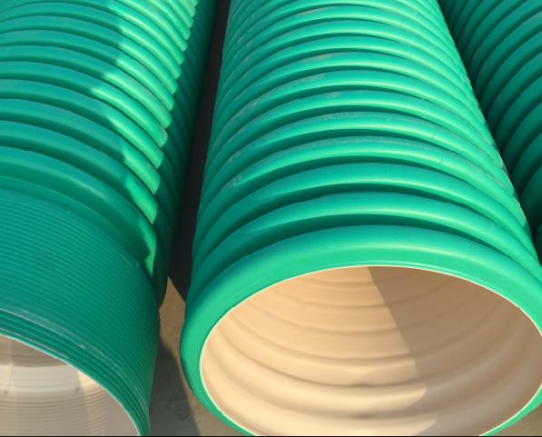 湖北金山洋生管道供应增强复合HDPE双壁波纹管