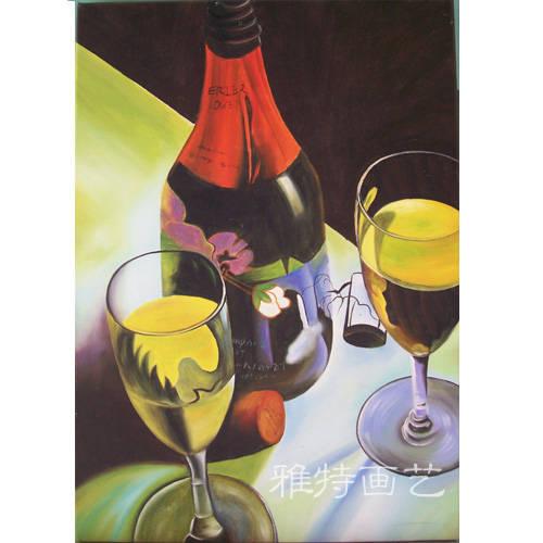 装饰画是纯手工绘制的油画,我们拥有自己的画室,有十多年的绘画经验