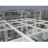 郑州钢化夹胶玻璃汽车坡道透明阳光房雨棚(图)