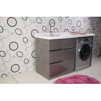 邦夫尼A-1500不锈钢拉丝带抽屉洗衣组合柜洗衣盆