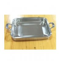 加厚不锈钢烤鱼盘火锅电磁炉炉专用烤盘长方形烤盘