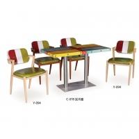 时尚个性火锅餐桌椅复古创意餐桌中餐西餐快餐桌椅