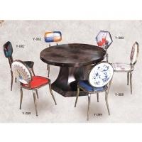 创意个性复古火锅餐桌平铁板面铆钉边箱式铁腿古铜色