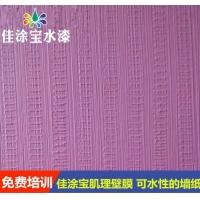 佳涂宝肌理壁膜漆 纹理清楚 可以水洗的墙纸免费培训