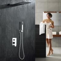 绮美斯暗装大瀑布花洒淋浴两功能套装水龙头入墙方形飞雨沐浴全铜