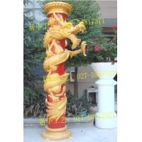 玻璃钢盘龙柱模具 欧式树脂龙柱雕塑  水泥装饰龙柱