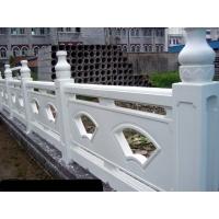园林景观、河堤桥梁水泥仿石扇形、雕花汉白玉河堤桥梁护栏