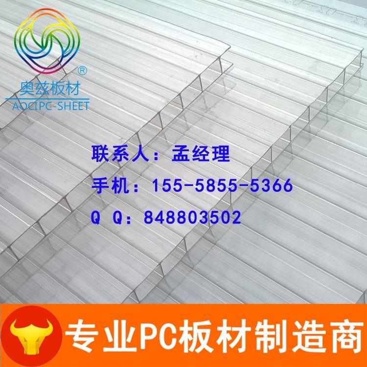 阳光板(双层中空带孔透明pc板)