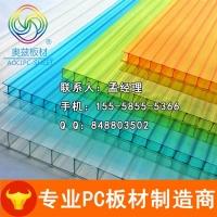 透明pc阳光板双层中空采光PC板防雾滴阳光板