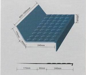 成都秦力橡胶地板-橡胶整体梯步-楼梯