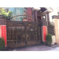 别墅铝大门、铝艺别墅庭院门、别墅双开门、铝艺门
