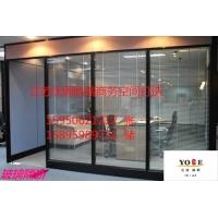 南京玻璃隔断,高隔间,办公室双玻百叶玻璃隔断