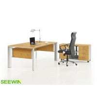 环保办公桌 经理办公桌 老板办公桌 油漆办公桌 办公家具展厅