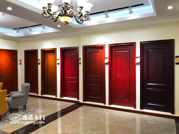 重庆逸品木门:全新展厅木门系列产品展示区