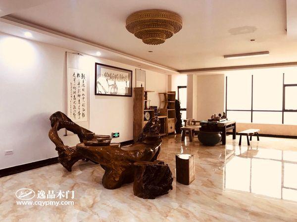 重庆逸品木门:整装展厅展示 原木