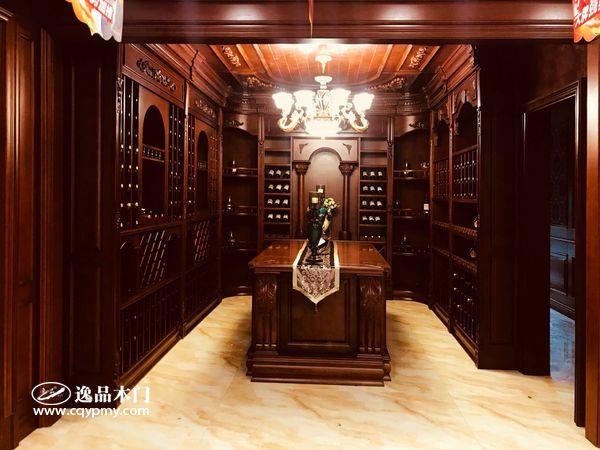 重庆逸品木门:整装展厅展示 酒柜