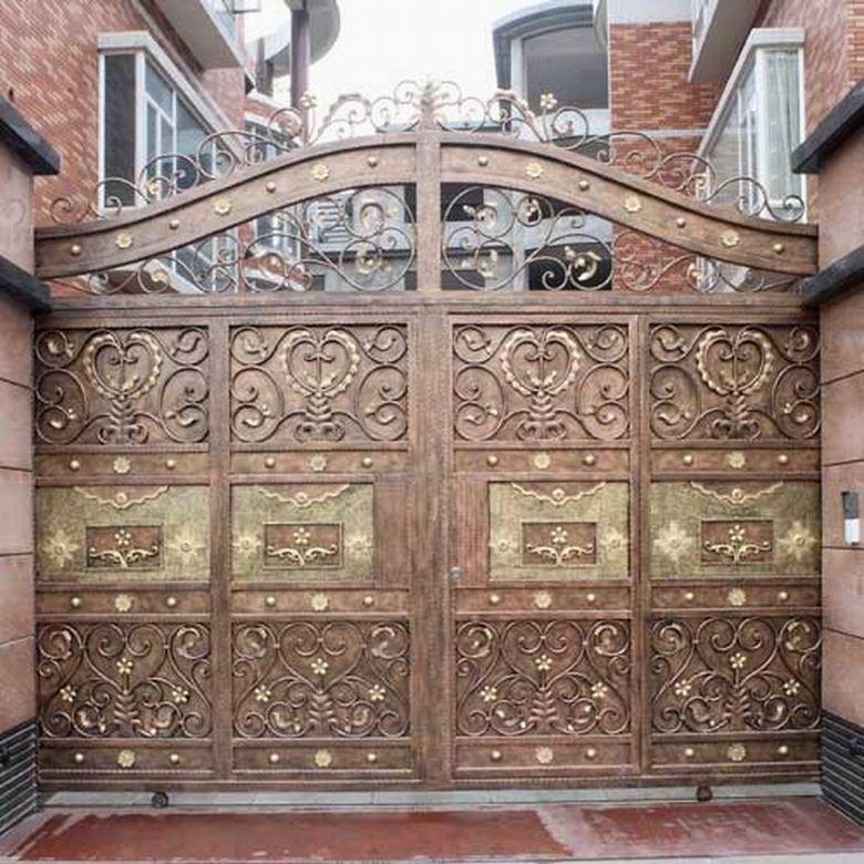 鐵藝大門    鑄鐵門   鍍鋅鐵門-- 金東潤鐵藝