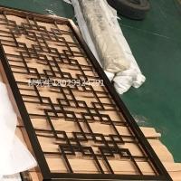 中式屏风生产厂家 铝雕花屏风定制